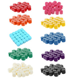 dés coins Promotion 20pcs 16mm DICE Coin Fileté Coin blanc Deuts 6 Factures DIY Gravrable Enseigner 24BD