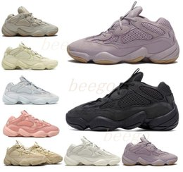 Stivale morbido online-Kanye West 500 Desert Rat Rope Scarpe da corsa Bone Bianco Utility Black Stone Soft Vision Street Sneakers Blush Moon Giallo Sale Trainer Boots 333 #