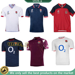 pullover in coppa del mondo di inghilterra Sconti 2020 2021 World Cup Jersey Inghilterra Team Rugby Shirts 20 21 Rugby Jersey National Team Uniforms Shirt da allenamento 2019 2020 Polo