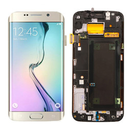 galassia lcd s6 Sconti G925 LCD Super Amoled per Samsung Galaxy S6 Edge SM-G925F Display LCD Touch Screen Digitizer Assembly Ricambi ricambi ricambi all'ingrosso