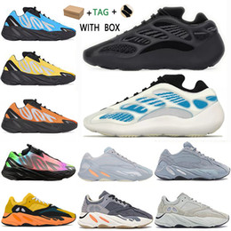 Chaussures de sport ouest en Ligne-adidas kanye west yeezy boost 700 v2 v3 yezzy yeezys shoes 2021 chaussures yecheil sun scarpe shoes 3m white black reflective mens women stock x sneakers wave runner 700