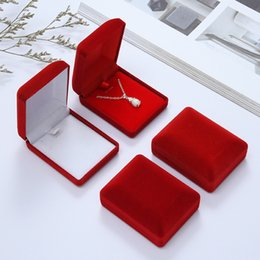 Flock ring boxen online-Flocking Womens Schmuckschatulle Brosche Halskette Ohrring Ohrstecker Ring Case Ornament Container Geburtstagsgeschenk Heißer Verkauf Heißer Verkauf 2 4FF L2
