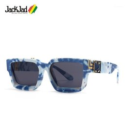 2021 gafas de sol cielo Jackjad 2020 Fashion Cool Unique Blue Sky Blanco Cloud Style Sunglasses Millionaires Diseño de marca Gafas de sol 863671