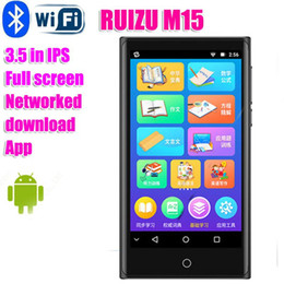 può toccare mp3 Sconti Ruizu M15MP4 WiFi Bluetooth Full Touch Touch 3.5inch IPS Lettore MP3 può arrivare a Internet FM Radio Video Player