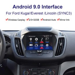 2021 lincoln navigator Interfaccia video di navigazione GPS per auto Android per Ford Kuga // Everest / Lincoln Player multimediale Youtube, Netflix, Carplay