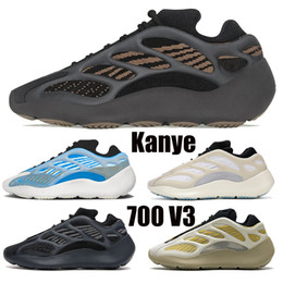 Chaussures marron femme en Ligne-Top Qualité Clay Brown 700 V3 Squelette Squelette Chaussures de course avec Box Arzareth Azael Carthaleflower Kanye West Mens Baskets Sports pour femmes