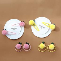 2Pcs//Set Girls Cute Fresh Fruit Avocado Hair Bands Children Hair Accessories UK