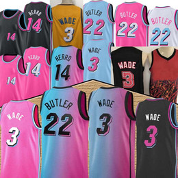 pallacanestro jersey miami Sconti nba Miami Heat 3 Dwyane Wade 13 Edrice Adebayo basketball 14 Tyler Herro 22 Jimmy Butler basketball jerseys nba hot sell jerseys