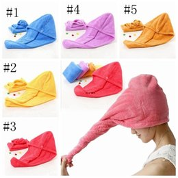 Tovagliolo magico super online-MICROFIBER Quick Doccia Doccia Capelli Capelli Spa Bagno Caps Magic Super Assorbente Asciugamani Denti Asciugamano Drying Turban Wrap Hat HWD5441