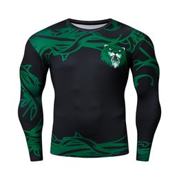 2021 ropa deportiva china New Green 3D Imprimir Tshirt Tshirt Chinese Style Tops Fitness Correr transpirable manga larga deportes Rashgard Gym Cycling Ropa L0223