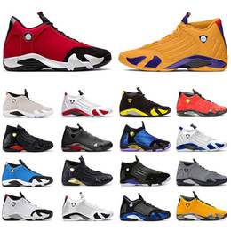 Taille 14 chaussures pour hommes en Ligne-Nike Air Jordan Retro 14 Jumpman Des Chaussures de basket-ball pour hommes Aj Jordans 14s XIV Gym Blue Red University Gold Mens Hyper Royal Candy Cane Baskets Originales Baskets