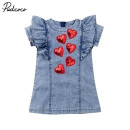 Concours t shirts en Ligne-Kid Baby Girl 3D Heart Party Pareant T-shirt Robe Robe Saint Valentin Vêtements C0223