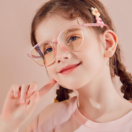 Optiques montures de lunettes pour enfants en Ligne-Parzin Computer Lunettes Cadre Enfants Anti Blue Light Retro Eyeear Blocking Verres Garçons Girls Spectacle optique lunettes de lunettes