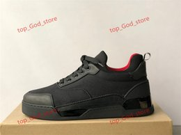 2021 picchi di christian louboutin Christian Louboutin shoes 2020 Top Designer Sneakers Spikes Aurelien Flat Trainer Flat Bottom Bottom Shoes Black Aurelien Sneakers Casual Trainer all'aperto Casual Qualità perfetta