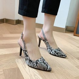 leopard stampa scarpe tacco basso Sconti 2021 Summer Shoes Open Shoes Heel All-Match Leopard Sandali Suit Suit Femmina Beige Comfort Stampa Girls High New Low Moda Stilotto Pointe