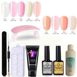 Base un gel online-Kit gel prolunga per unghie con file di clipper a LED UV Tips Gel Base Coat Coat Top Coat All-in-One Strumenti per unghie DA TE per avviamento Nail Art Kit 9pcs Set