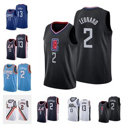 Camicia paul george online-2021 Braves 2 Leonard Paul 13 George Pallacanestro Jersey NCAA Lou 23 Williams City Blue Blue Black Bianco Camicia Maglie da baskey