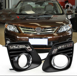 Corolla luzes diurnas on-line-Auto-Tech 1 Par Car LED Daytime Running Lights Replacement DLL para Toyota Corolla 2010-2013