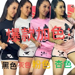 costume de sport de marque fille Promotion Marque Femmes Shorts Ensembles T-shirt T-shirt T-shirt Tops Shorts Sport Tracksuits Filles Casual Fashion Jogging Costume Sweatshirts Vêtements GG31003