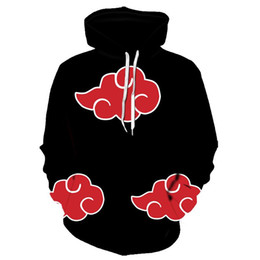 Casacos masculinos on-line-Hot Hoodies Casaco Homens Homens 3D Akatsuki Cloak Uchiha Itach Cosplay Costume Hoodies Kakashi Dropshipping