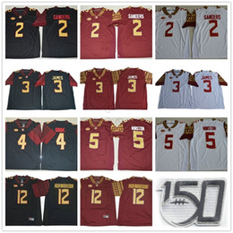 Floride state seminoles jersey en Ligne-NCAA FSU Florida State Seminoles 2 Sandes de Sanders 3 Derwin James 4 Dalvin Cook 5 Jameis Winston 12 Akers Hornibrook 150th Jerseys