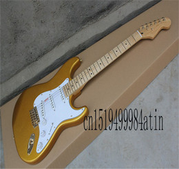 Chitarre elettriche stratocaster online-New Factory Guitar Top Quality Stratocaster Personalizzato Body Golden Hardware Body Guitar Electric Guitar Shop