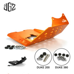 Duc 125 en Ligne-Motorcycle CNC Engine Chassis Skid Plate Guard Protector Cover Shield For KTM DUKE 200 125 390 2013 2014 2015 Accessories