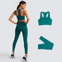 Mulheres s leggings sem costura on-line-Vital Seamless Sports Sports Bra Gym Leggings Ternos Yoga Set Trabalhe Out EXERCÍCIO Roupas Desgaste Atlético para Mulheres Sportswear