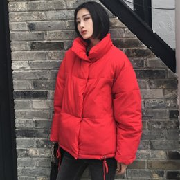Abrigos paka online-Female High-collar Paka Winter Short Coat Fall Cotton Coat