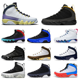 Fiore d'aria online-nike air jordan retro 9 Scarpe da basket da uomo jumpman Aj jordans 9s Cactus Flower University Gold Gym Red UNC Dream it do it Scarpe da ginnastica da uomo Taglia 7-13