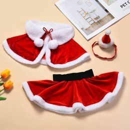 2021 cinture di stile per i ragazzi Baby Toddler Girls Christmas Costume Clothing Sets One Size Suit for 0-24M Little Kid Girls Santa Cosplay Wear christmas 210315