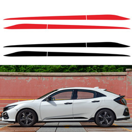 2021 adesivi per auto honda 2pcs Adatto per Honda Civic 2016-2020 Striscia Pre-Cut Laterale Skirt Skirt Stickers Impermeabile Sunscreen Decalcomanici in vinile Auto modificata A A