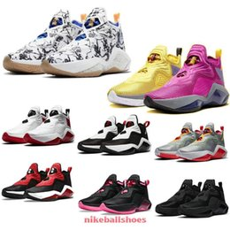 Scarpe lebron stati uniti d'america online-Lebrons Soldier 14 Xiv Ep Sisterhood Kay Yow Lakers University Red USA Womens Kids Bambini Scarpe da basket in vendita con box sneakers store