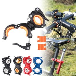 2021 morsetti accessori per biciclette 25 # Bicycle Light 360 gradi Bike LED Supporto per il supporto del supporto per lampada Bicycle Torch Clip Morsetto Accessori per ciclismo