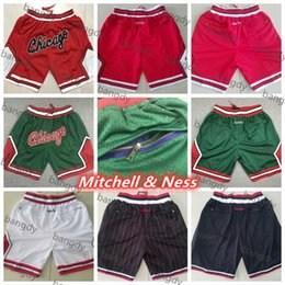 ricamo per i pantaloni di sport Sconti Just don Mens Dennis Rodman Scottie Pippen Hip Pop Pocket Pants Pantaloni professionali Sport Training Authentic Runny Runny Pantaloni da basket