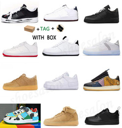 Sapatos de esqueleto mulheres on-line-2021 Ice Silk Breathable  air force 1 ben and jerry Skateboard Shoes Originals Type Antiskid Rubber Built-in Zoom Cushionings air New AF1 orce Athletic Shoes