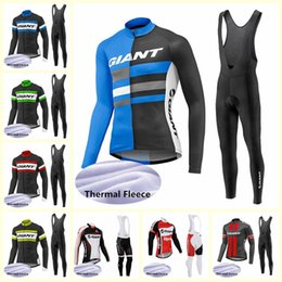 Riesenhosen online-Riesiges Team Radfahren Winter Thermal Fleece Jersey BIB Pants Sets Fahrradkleidung ROPA CICLISMO Sport Uniformen U101502