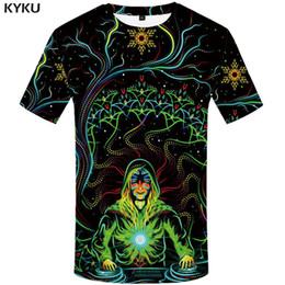 2021 psychedelische kleidung Kyku Marke Galaxy T-shirt Männer Psychedelic T-shirts Casual Bunte Anime Kleidung Musik T-shirt Gedruckt Gothic T-Shirts 3D L0223