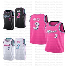 Jerseys hot pink on-line-2020 NCAA Mens Respirável e Quick-Secagem Jerseys Hot Pressed Jerseys Jogo Uniforme Treinamento Terno Rosa Branco Preto S-XXL