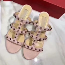 Sandálias de tornozelo alto on-line-Top Quality Woman Highed Heated Sandal Nude Moda Ankle Straps Rebite Slide Slide Mulher Bombas Sapatos Sangres Sandálias Sandálias Vestido Sapatos com Caixa Grande Tamanho35-42
