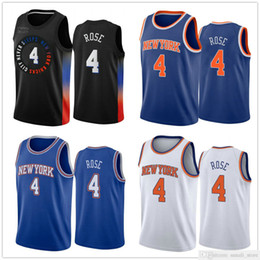 2021 il pullover di pallacanestro di stile 2021 New Style 4 Derrick Rose Jerseys Navy Blue Color Black Color Basket 4 Rose Jersey City Sports Shirts