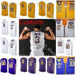 Aundre Hyatt LSU Tigers Basketball Jersey - Purple