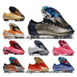 sacs ronaldo Promotion Cadeau Sac Mens High Tops Bottes de football Ronaldo Cr7 Mercurial Vapores 13 XIII ELITE FG Tarcles NEYMAR AC Superfly VII VII CR100 Chaussures de football