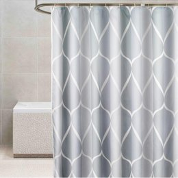 tenda da doccia scura  Sconti Doccia moderna tenda da doccia grigio scuro bagno impermeabile addensato tende da bagno eco-compatibile tende con ganci Home Decor
