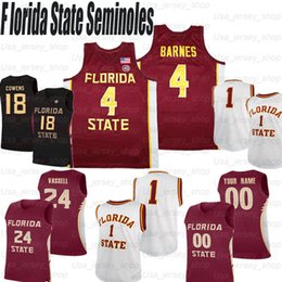 Kundenspezifische basketball jerseys online-Benutzerdefinierte Florida State Seminoles College Basketball # 4 Patrick Williams #bacon # 5 Beasley # 10 Malik Osborne Trikots