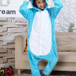 Elefanten-pyjama online-Pyjamas einteiliges und Cartoon Herbsttier-Winter-WC-Version Elefant-Elternkind Kinder-Flanell-Home-Wear 24bs