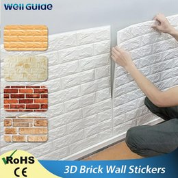 10PCS 3D Brick Wall Sticker Self-adhesive Waterproof Panels Wallpaper Decal UK