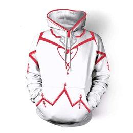 HOT Sword Art Online Ⅱ SAO Zipper Hoodie Coat Cosplay Costumes sweatshirt Jacket