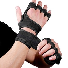 2Pcs Women Men Weight Lifting Training Gloves Fitness Gym Hand Palm Protector