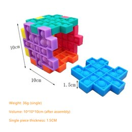Juegos cubo diy online-Toy roedor, DIY Rubik's Cube, Silicone Press Ball Pop Bubble Squeeze Children's Desktop Game Toys